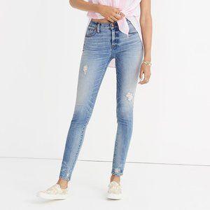 "Madewell 9"" Destructed-Hem High-Rise Skinny Jeans"